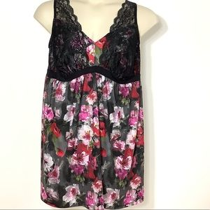 Cacique Nightgown Nightie Moody Floral Lace 18/20